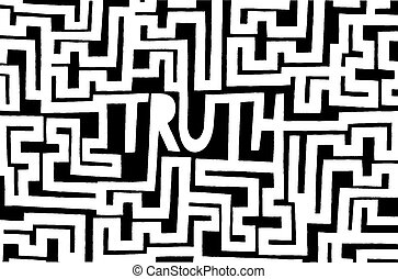 Complex truth as an intrincated maze