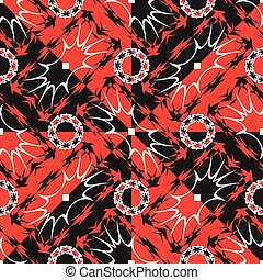 complex wavy red and black texture