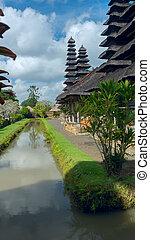 complexe, temple, bali, vue