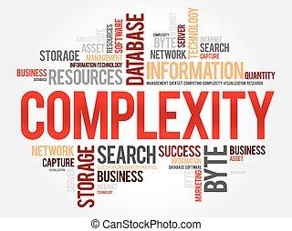 complexidade, palavra, nuvem