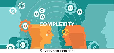 complexity concept illustration vector head thinking brain