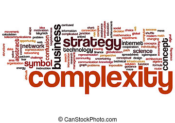 Complexity concept word cloud background
