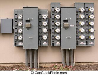 complexo apartamento, metros elétricos