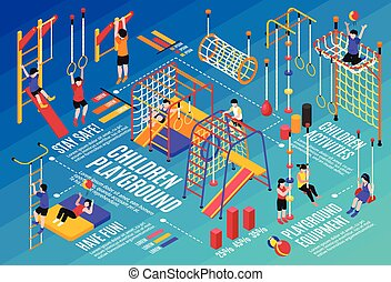 complexo, desporto, crianças, composição
