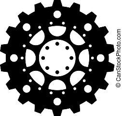 complexo, mecanismo, cogwheel