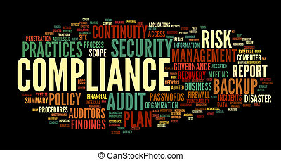 Compliance and audit in word tag cloud