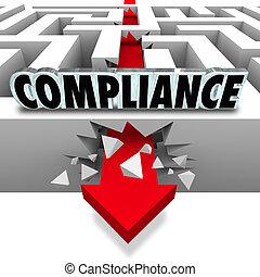Compliance Arrow Breaks Through Maze Breaking Rules -...