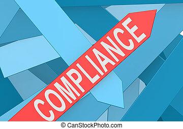 Compliance arrow pointing upward