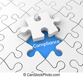 Compliance - Conceptual business image. Sign and symbol