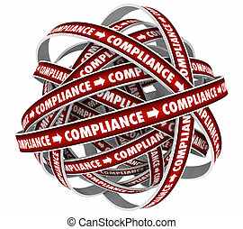 Compliance Cycle Process System Endless Loop 3d Illustration