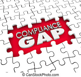 Compliance Gap Puzzle Hole Risk Liability Not Following...