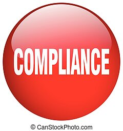 compliance red round gel isolated push button