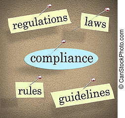 Compliance Rules Regulations Laws Guidelines Bulletin Board...