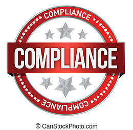 compliance seal stamp illustration design over white