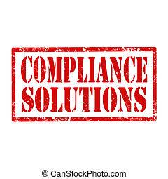 Compliance Solutions-stamp - Grunge rubber stamp with text...