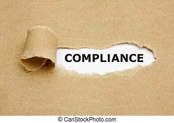 Compliance Torn Paper