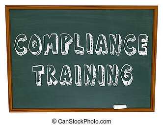 Compliance Training Words Chalkboard