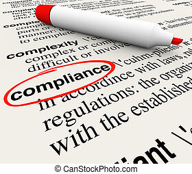 Compliance Word Dictionary Definition Word Meaning -...