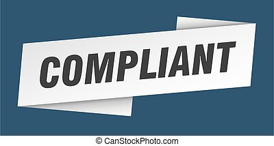 compliant banner template. ribbon label sticker. sign