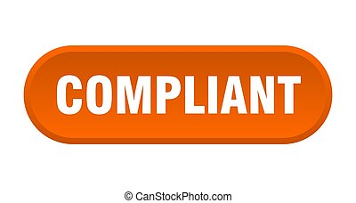 compliant button. rounded sign isolated on white background