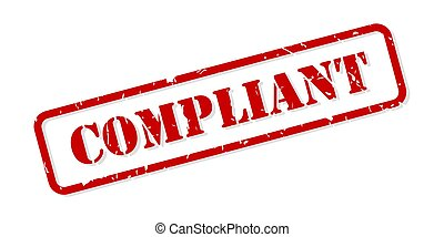 Compliant Rubber Stamp Vector