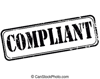 compliant grunge stamp with on vector illustration