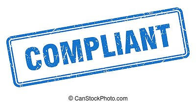 compliant stamp. square grunge sign isolated on white background