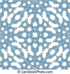 complicado, padrão, moorish, oriental