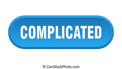 complicated button. rounded sign on white background
