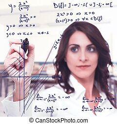 Complicated mathematical function - Intelligent woman solve...