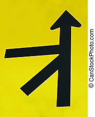 Complicated - Road sign indicating complex intersection of...