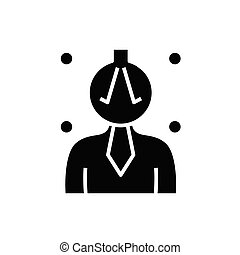 Complicated tasks black icon, concept illustration, vector flat symbol, glyph sign.