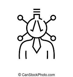Complicated tasks line icon, concept sign, outline vector illustration, linear symbol.