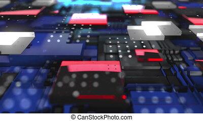 compliqué, arrière-plan., surface, 3d, engendré, informatique, render, technologie, résumé