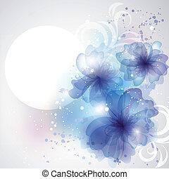 complot, belleza, texto, lugar, flores, tarjeta