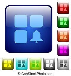Component alert color square buttons