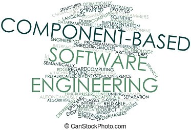 Component-based software engineering - Abstract word cloud...
