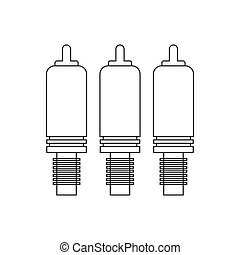 Component cable illustration on the white background. Vector...