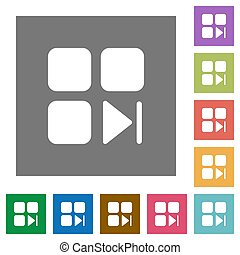 Component next square flat icons