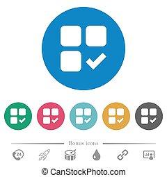 Component ok flat round icons