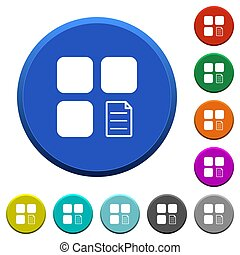 Component properties beveled buttons