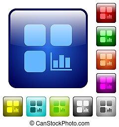 Component statistics color square buttons