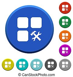 Component tools beveled buttons