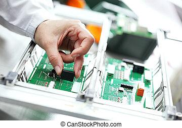 componente, montaggio, elettronico