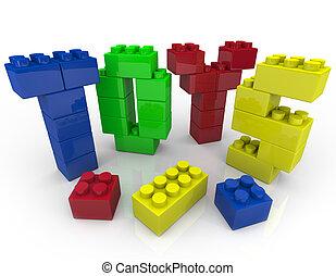 componentes básicos, -, creativo, juguetes, juego