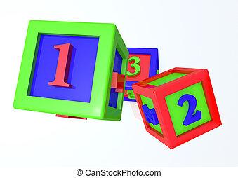 componentes básicos, render, niño, 123, 3d