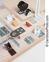 components for assembly of furniture - variety of components...