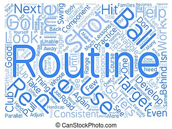 Components Of An Effective Pre Shot Routine Word Cloud Concept Text Background