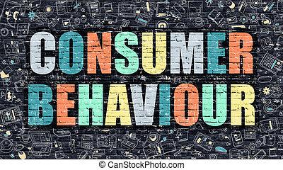 comportamento, scuro, mattone, consumatore, wall.