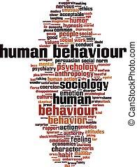 comportement, mot, humain, nuage